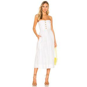 NWT Free People Lilah Pleated Tube Dress White S